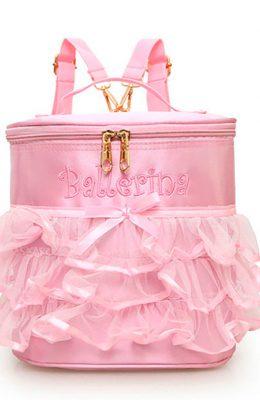 Roze kindertas met tule franje.