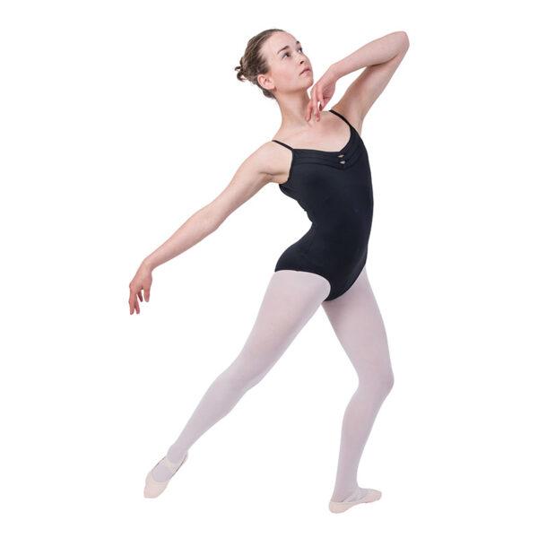 Balletpakje met spaghettibandjes en V-hals